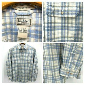 LL Bean Traditional Fit Shirt Button Front L/S XL